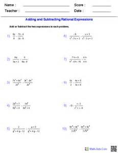 Algebra 2 Worksheets Algebra 2 Worksheets Rational Expressions Worksheets