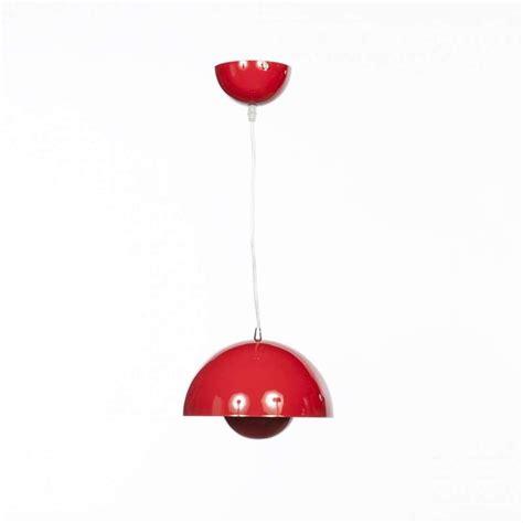 mid century modern reproduction flowerpot vp pendant lamp red inspired  verner panton