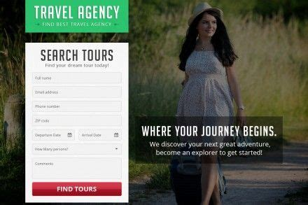 Tourism Landing Page Templates by Buy Travel And Tourism Landing Pages Online