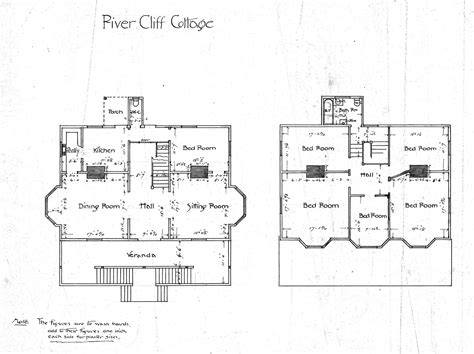 cottage floor plan river cliff cottage floor plans biltmore village asheville n c aam rs0042 0001 ncsu