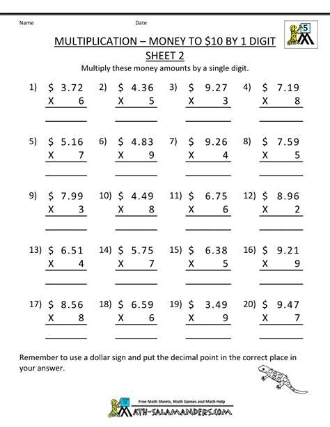 Worksheet Multiplying With Decimals Worksheet Grass Fedjp Worksheet Study Site