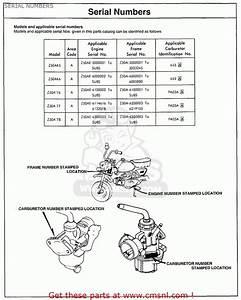 Honda Z50a Mini Trail K6 1975 Usa Serial Numbers