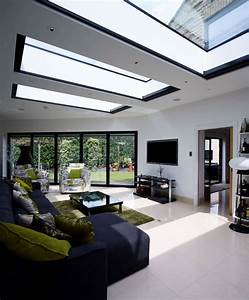 contemporary garden room flat roof lights – Transform