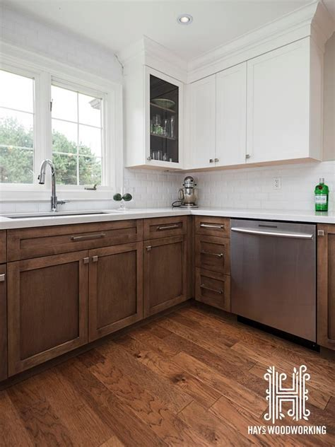 The type of cabinets you see here is from rift white oak. The doors and drawer fronts are shaker style. The ...
