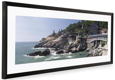 black panoramic picture frame matted