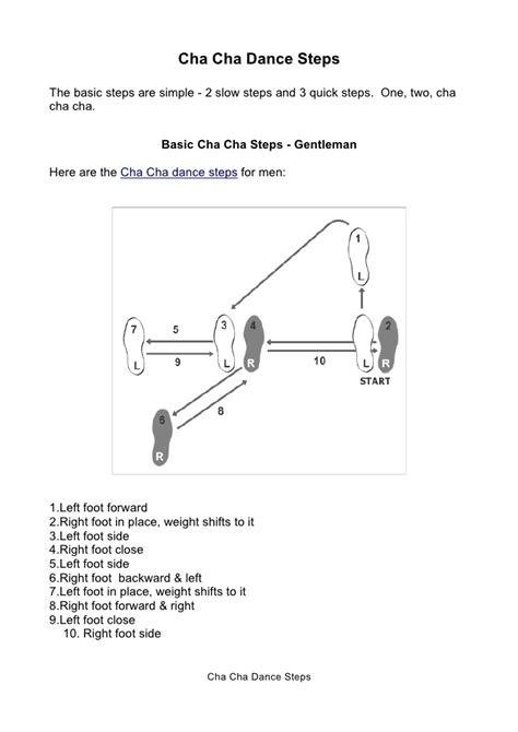 Cha Dance Steps