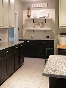 black plus white cabinets for the home pinterest With kitchen colors with white cabinets with blink 182 wall art