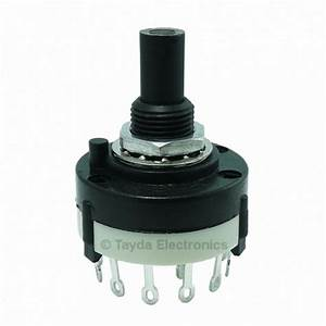 Rotary Switch 2 Pole 6 Position