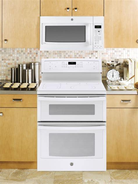 pbtjww ge profile  double oven electric range convection white