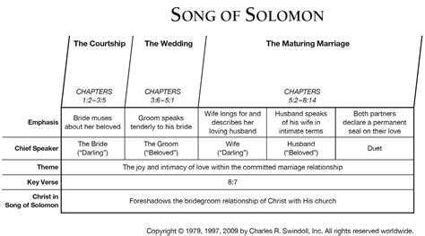 This poetry leads with sound and you can never go wrong following the sound sense, for it is only after you hear the words that you are able to locate their meanings. Book of Song of Solomon Overview - Insight for Living Ministries