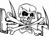Skull Coloring Bones Cross Crossbones Pages Dry Drawing Skeleton Sheet Getdrawings Coloringsky sketch template