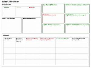 Sales call planner tool for Sales call plan template free