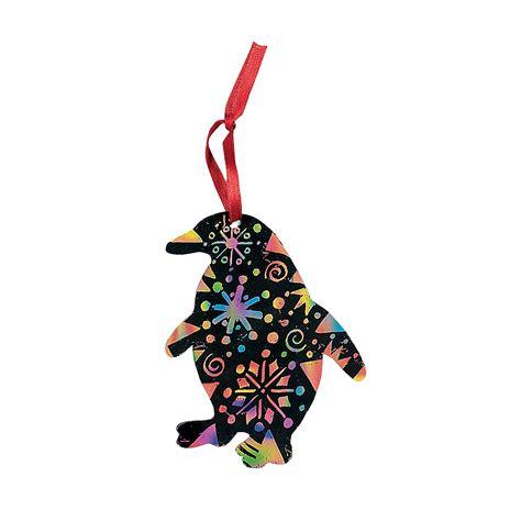 magic color scratch penguin christmas ornaments oriental