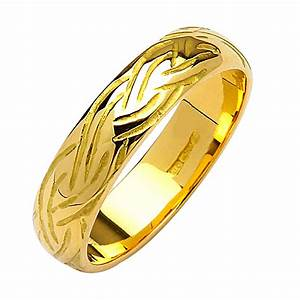 Irish gold wedding ring livia 18k gold for Irish gold wedding rings