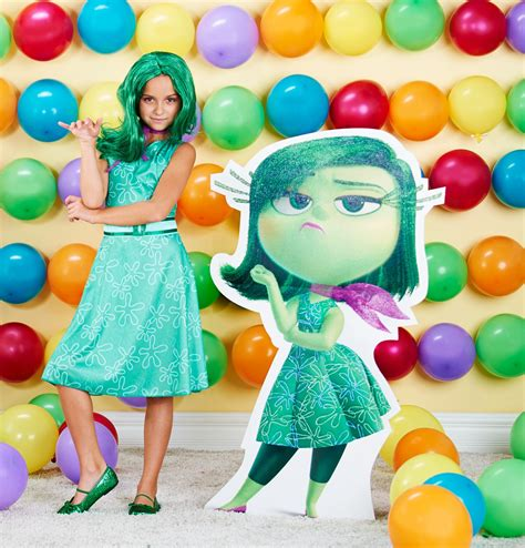 Buy Disney Inside Out Classic Disgust Costume For Girls