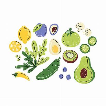 Illustration Healthy Vector Drawn Hand Clipart Graphics
