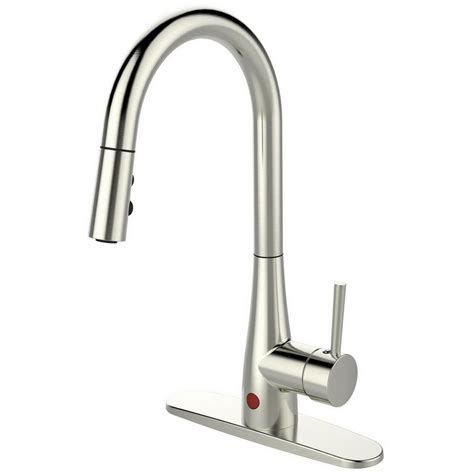 single kitchen faucet with sprayer runfine single handle pull sprayer kitchen faucet in