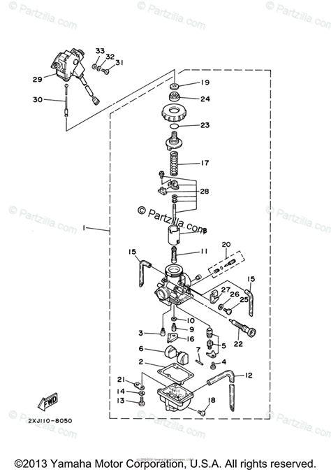 yamaha atv 2000 oem parts diagram for carburetor partzilla com