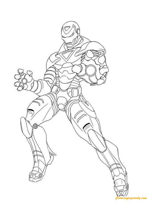 superhero iron man avengers coloring page free coloring