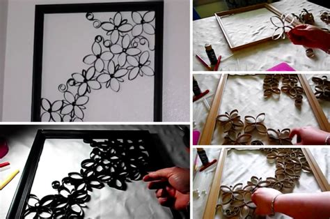 comment faire une magnifique d 233 coration murale avec des rouleaux de papier toilette des id 233 es