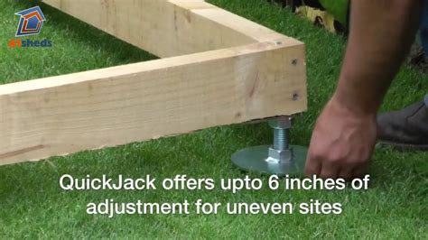 quickjack shed base   create  great shed foundation fast youtube