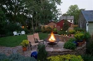 Sitzecke Im Garten Anlegen Gemauerte Sitzecke Garten Feuerstelle Im