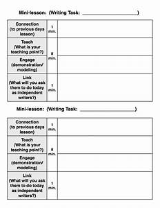 writers workshop model With writers workshop lesson plan template