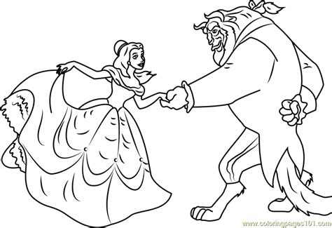 Free Beauty And The Beast Coloring