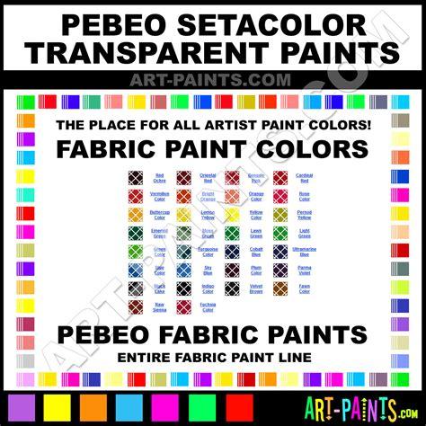 pebeo setacolor transparent fabric textile paint colors