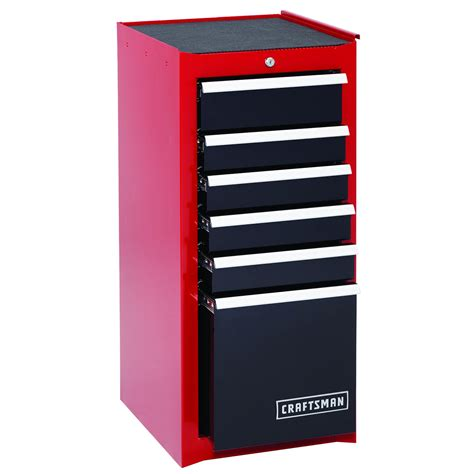 tool box end cabinet craftsman 6 drawer heavy duty ball bearing side cabinet