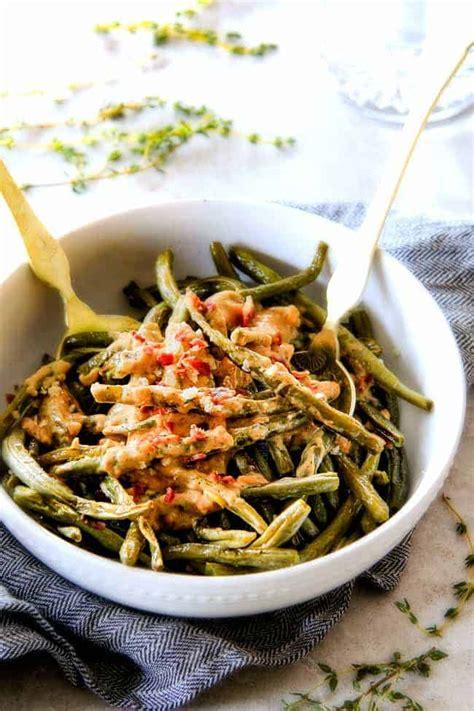 minute roasted green beans  creamy gruyere sauce