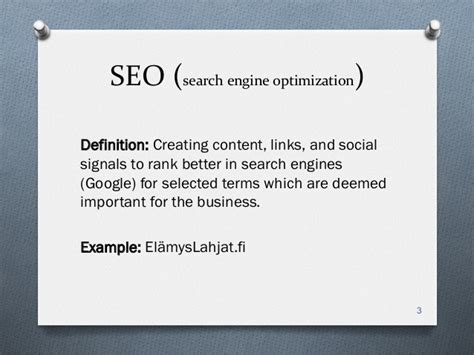 Define Search Engine Optimisation - digital marketing for startups boost turku
