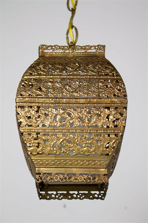 square gold filigree pendant appleton antique lighting