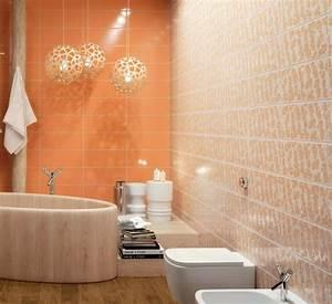 Salle De Bain Orange : fa ence salle de bains d clin e en 40 photos pour s 39 inspirer ~ Preciouscoupons.com Idées de Décoration