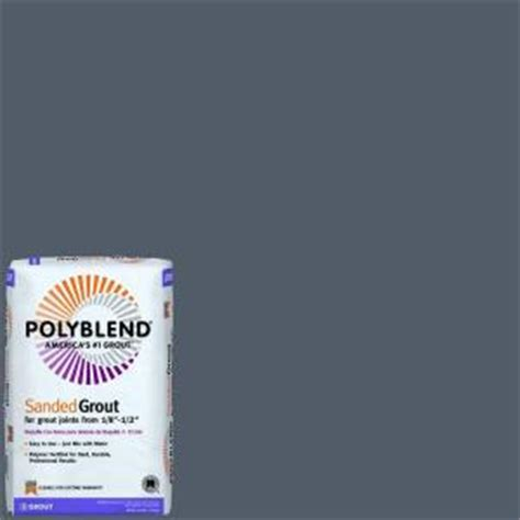 pewter grout custom building products polyblend 19 pewter 25 lb sanded grout pbg1925 the home depot