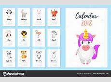 calendário do ano 2018 — Vetores de Stock © tkronalter9