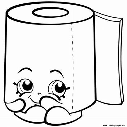 Shopkins Coloring Toilet Pages Paper Season Roll