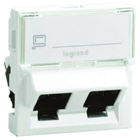 legrand 076506 prise rj45 cat 6 ftp inclin 233 e 2 modules mosaic la boutique de pke