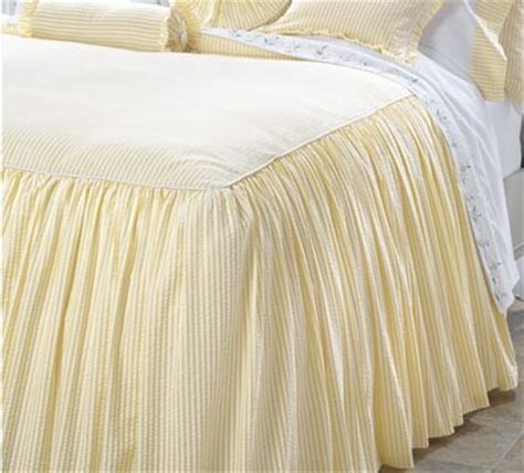 Seersucker Coverlet by Gathered Seersucker Bedspread Contemporary Bedding