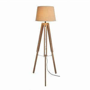 Wooden tripod floor lamp for Wooden tripod floor lamp ireland