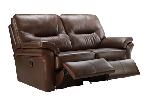 two seater recliner sofa g plan washington leather 2 seater double recliner sofa