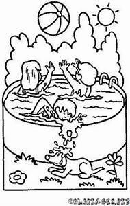 Dessin De Piscine : coloriages gratuits enfants coloriage enfant dans la piscine ~ Melissatoandfro.com Idées de Décoration