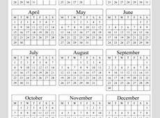 Yearly Calendar Archives Printable Calendar 2019, 2020