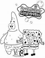 Coloring Spongebob Pages Games Squarepants Popular sketch template