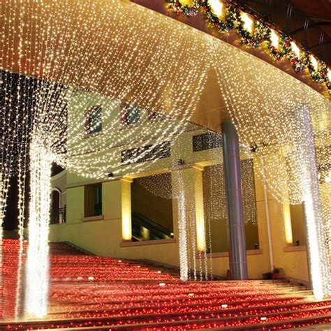 canopy bed sheers 300 leds string lights curtain light outdoor