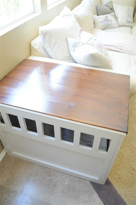 diy wooden dog crate cover