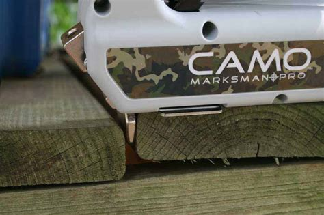 Camo Deck Tool Spacing by Camo Marksman Pro Deck Fastener System Review