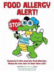 Food Allergy Alert for Classroom