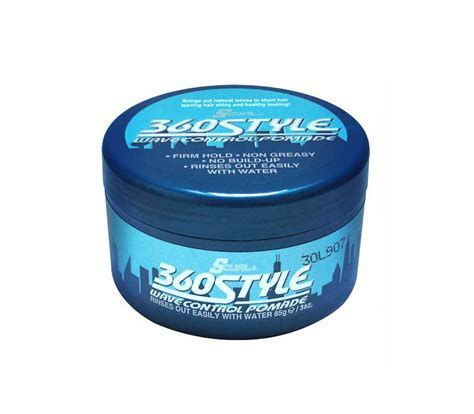 Luster's S Curl 360 Style Wave Waterbased Pomade barber
