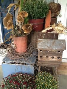 Pinterest Primitive Fall Porch Decorating